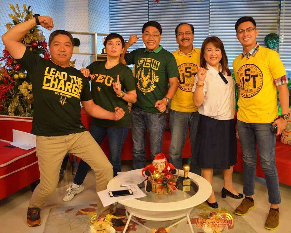 Celebrities show their school spirit in the UAAP Basketball Finals Game 3- UST vs. FEU