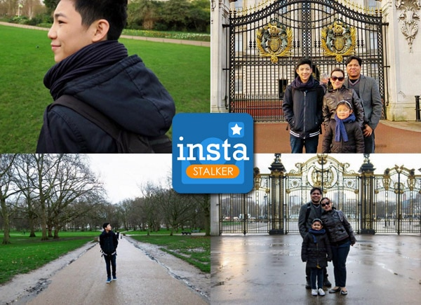 Darren Espanto's family holiday in London