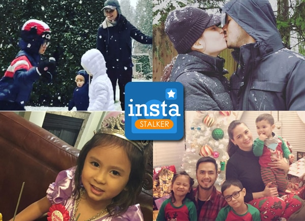Oyo Sotto, Kristine Hermosa and kids enjoy their 'white' holiday