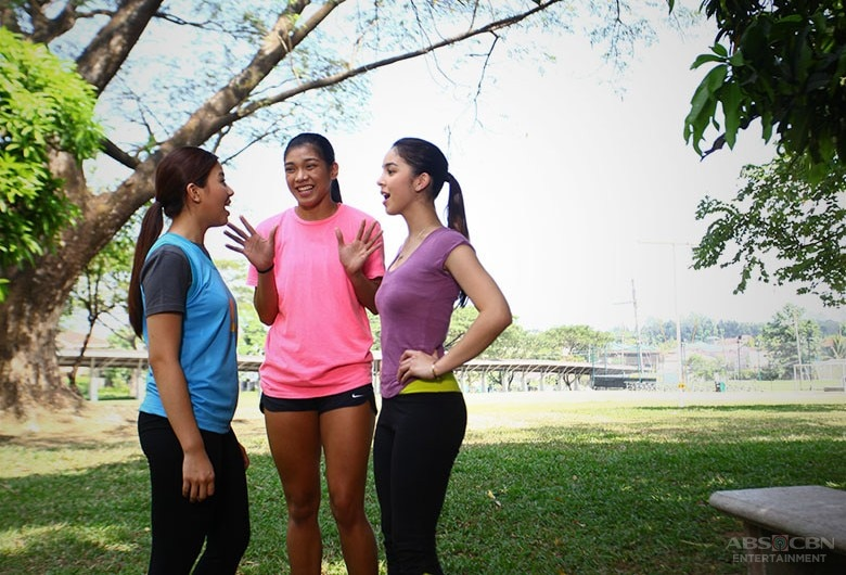 BEHIND-THE-SCENES: Miles & Julia welcome Volleyball Superstar Alyssa Valdez on the set of And I Love