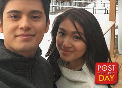 LOOK: JaDine, caught holding hands while sleeping!