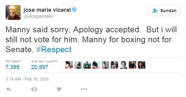 Vice Ganda slams bashers comparing his jokes to Manny Pacquiao's homophobic remark