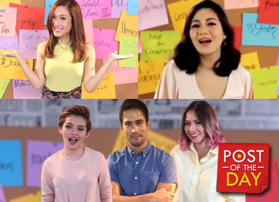 LOOK: Yeng Constantino, Sam Milby, Rachelle Ann Go, Kyla and other singers in one music video