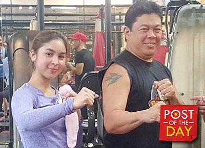 LOOK: Julia Barretto and dad Dennis Padilla are gym buddies