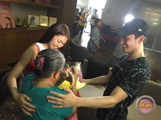 James Reid and Nadine Lustre surprise 72-year-old fan
