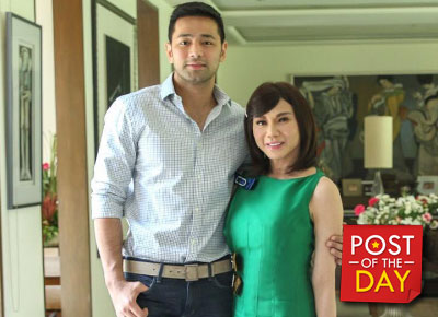 Dra. Vicki Belo and Hayden Kho show their baby to the public