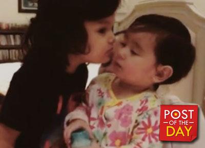 WATCH:  Zion Gutierrez enjoys the company of baby Scarlet Snow Belo