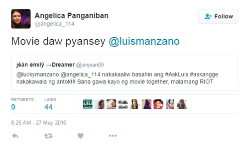 Angelica Panganiban hints on a new project with Luis Manzano