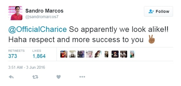 Sandro Marcos admits resemblance with Charice