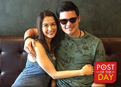 LOOK: Dingdong Dantes and Marian Rivera's 'third wheel' during their date