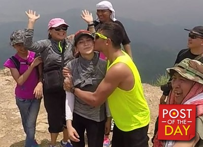 Sarah Geronimo gets a kiss from Matteo Guidicelli