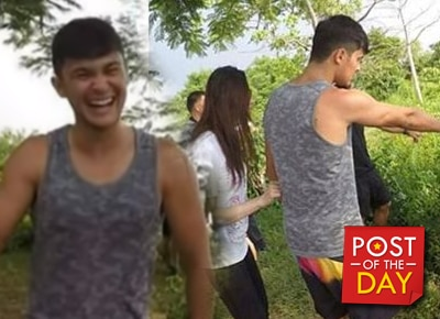 WATCH: Matteo Guidicelli and Sarah Geronimo's funny 'encounter' with a python snake