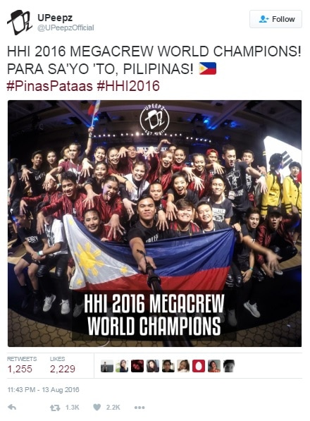 Philippines wins top prize at the 2016 World Hiphop Dance Championship