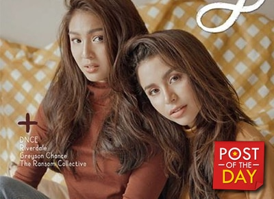 BFF GOALS: Nadine Lustre and Yassi Pressman appear together on a magazine cover