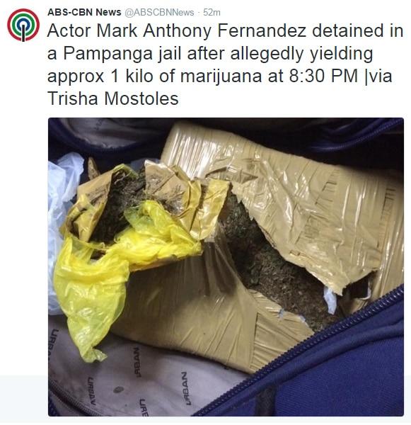 BREAKING: Mark Anthony Fernandez arrested for alleged possession of marijuana