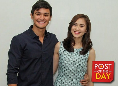 SPOTTED: Matteo Guidicelli supports GF Sarah Geronimo in a bar gig