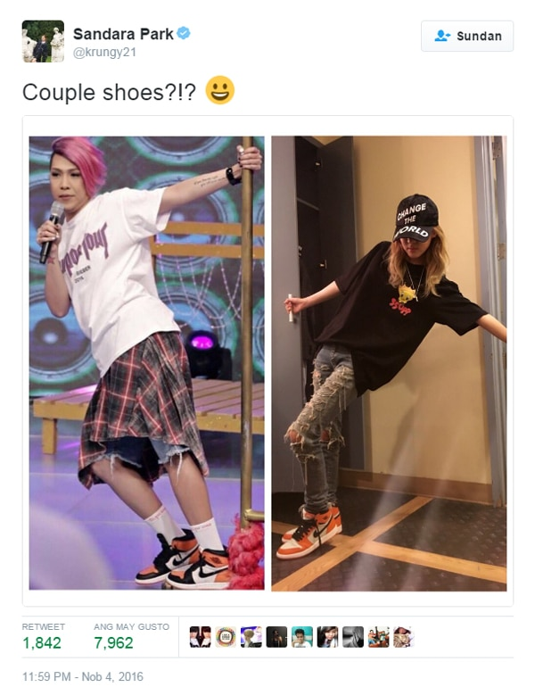 Sandara Park shares 'couple' photo on Twitter