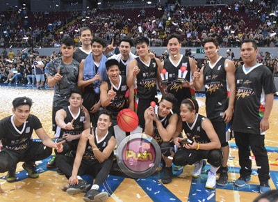 Daniel Padilla's Black Team takes home the trophy at the Kapamilya Playoffs