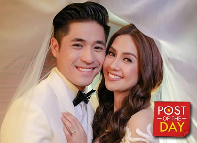 WATCH: Kaye Abad and Paul Jake Castillo do the mannequin challenge on their wedding day