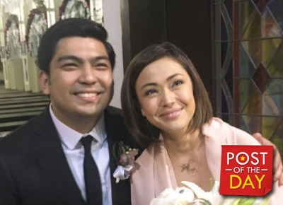 LOOK: Jodi Sta. Maria and Jolo Revilla attend a wedding