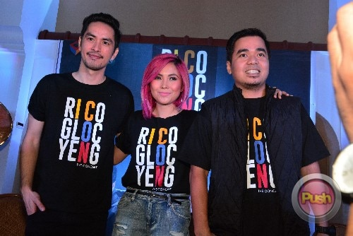 Yeng, Rico and Gloc 9 at the ICON: The Concert Press Conference