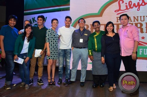 Daniel Padilla and celebrity chefs for Lily's Peanut Butter