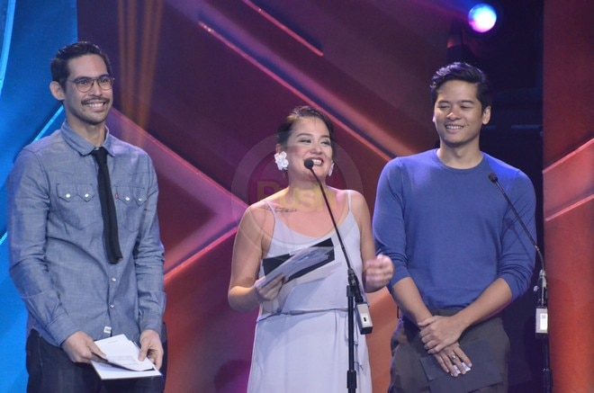 Elizabeth, Ricky and Sylvia came to the awards night of Cinema One Originals film festival.