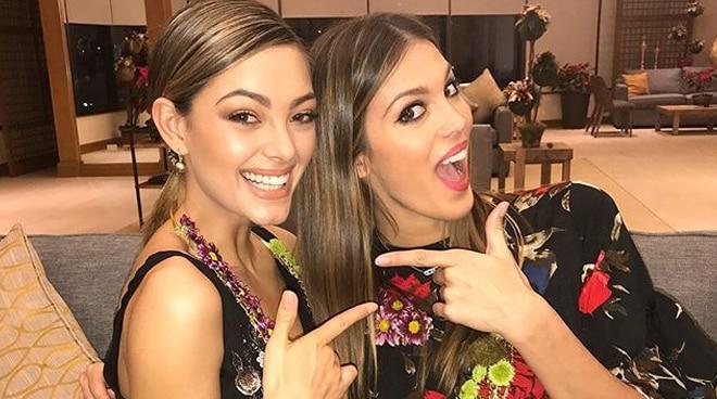 Miss Universe queens arrive in Manila