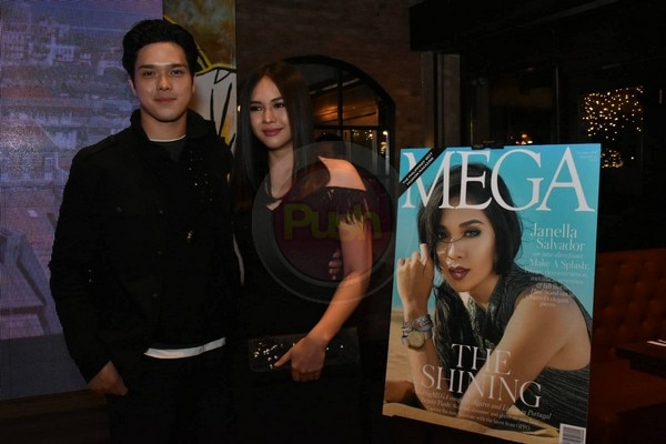 Elmo Magalona showed support for Janella's magazine cover launch by attending the event with her.
