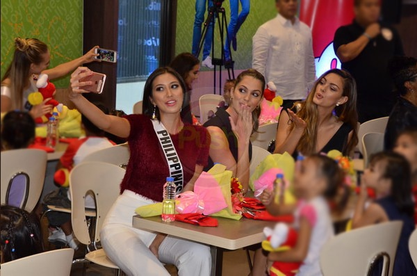 Miss U 2017 candidates, together with a known fast food chain company, did a charity work for kids
