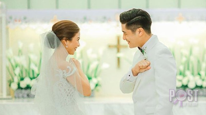 Kaye Abad and Paul Jake Castillo mark their first wedding anniversary