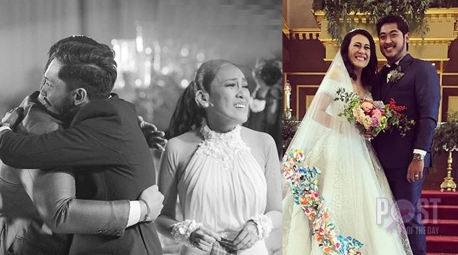 Sancho Vito gives a moving message to mom Ai-Ai delas Alas after her wedding