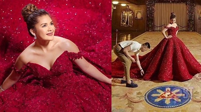 LOOK: President Rodrigo Duterte's granddaughter shine in a pre-debut shoot at Malacañang