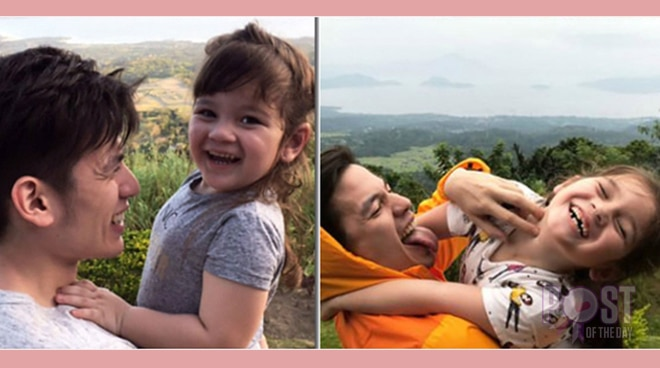 Jake Ejercito recreates photos with daughter Ellie