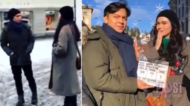Bela Padilla and Carlo Aquino shoot new film in Switzerland
