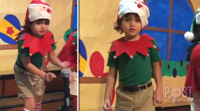 WATCH: Zion Gutierrez's adorable Christmas dance number