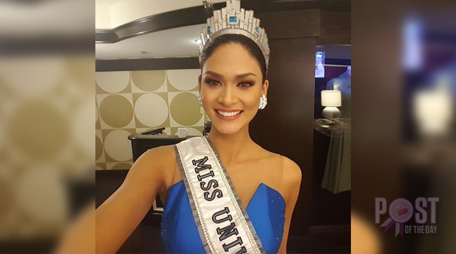 #ThrowbackThursday: Pia Wurtzbach's first selfie as Miss Universe 2015
