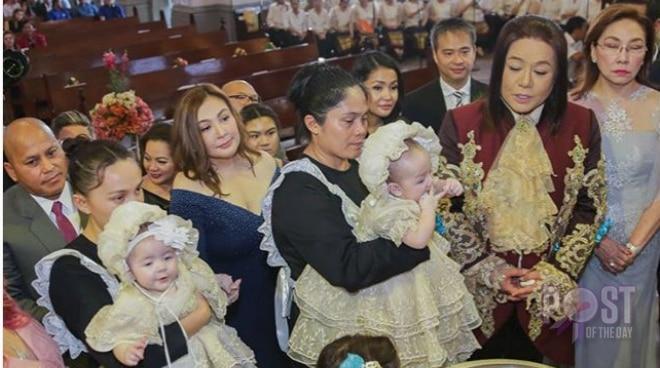 Joel Cruz's twins get baptized