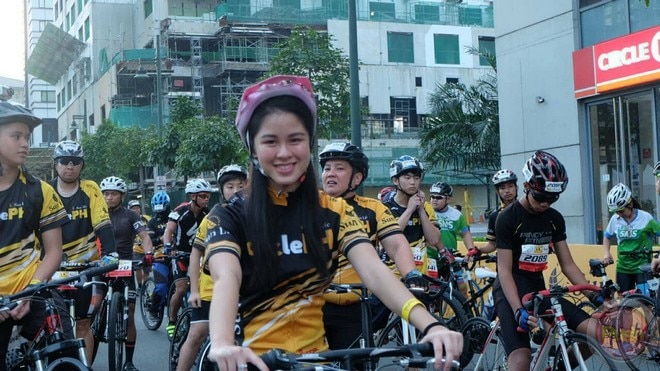 Star Magic artists were among those who ran at the Sunpiology CyclePH on Saturday.