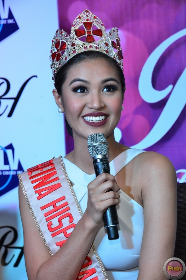 Check out Winwyn Marquez's Reina Hispanoamericana crown which she wore at her victory party.