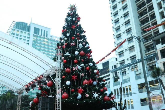 Comedian-host Vice Ganda led the annual lighting of Araneta Center's giant Christmas tree.