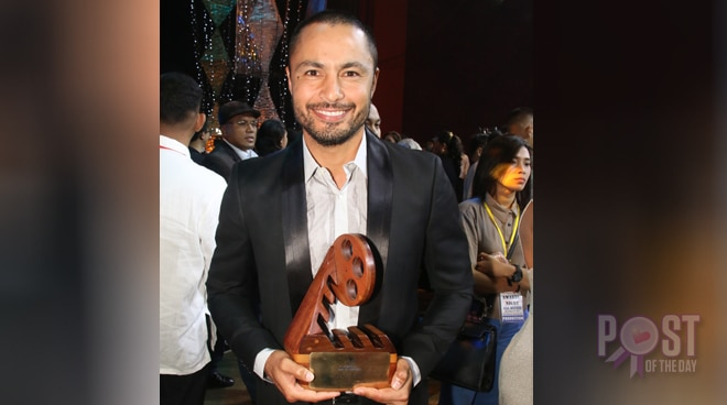 Derek Ramsay is happy to receive his MMFF award