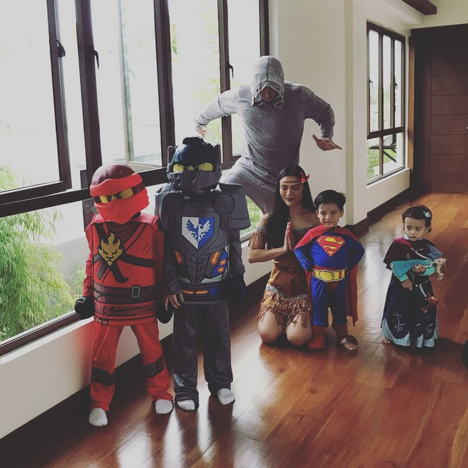 Ciara Sotto with her son, nephews and niece