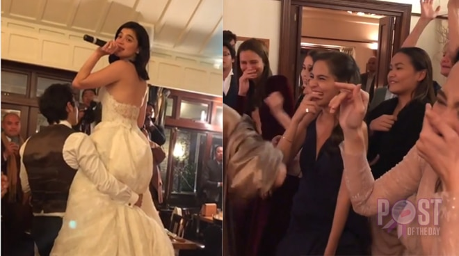 WATCH: Anne Curtis' entertaining throwing of bouquet