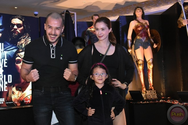 Couple Sunshine Cruz and Macky Mathay's families joined together to watch the Justice League movie
