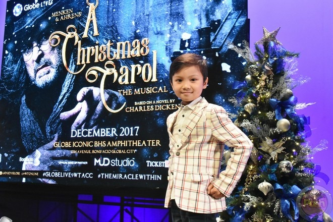 Franco Laurel and daughter Mariella star in Globe LIVE and 9Works Theatricals' A Christmas Carol.