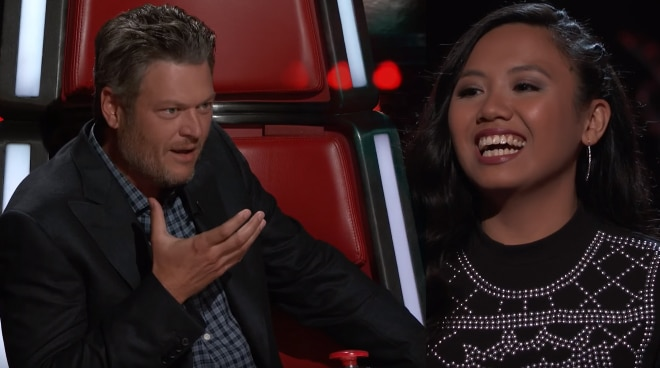 Fil-Am Kathrina Feigh to continue her The Voice US journey as Blake Shelton steals her from Jennifer Hudson