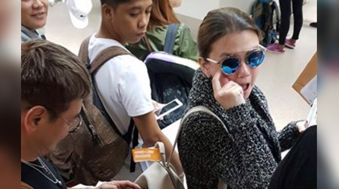 Netizen calls out Angelica Panganiban and her group for allegedly cutting the immigration line