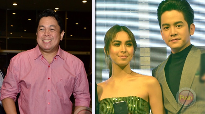 What do Joshua Garcia and Julia Barretto think about Dennis Padilla's theory about their relationship?