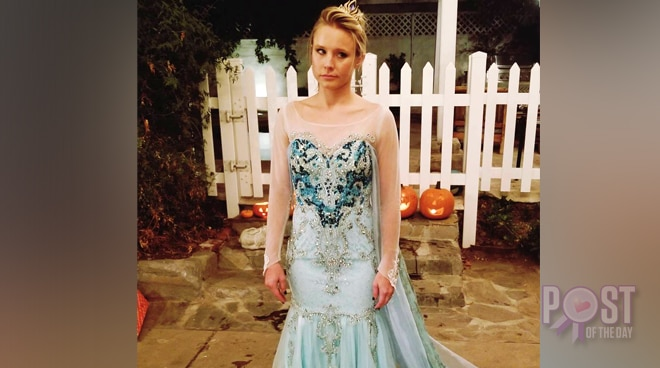 LOOK: Kristen Bell dresses up as Frozen's Elsa on Halloween
